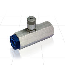 Flow control valve / in-line / steel / aluminum
