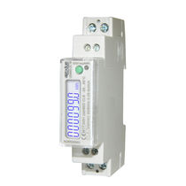 Single-phase electric energy meter / DIN rail / 50 Hz / with LCD display