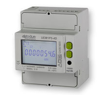 Three-phase electric energy meter / DIN rail / with LCD display / 50 Hz