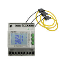Three-phase power meter / with Rogowski inputs / DIN rail