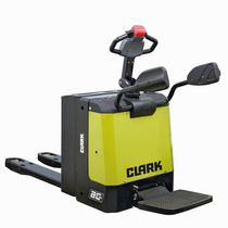 Electric pallet truck / with rider platform / handling / loading
