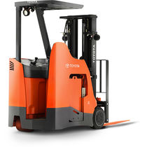 Electric forklift / stand-on / handling / 3-wheel