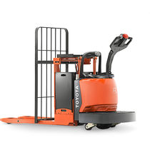 Electric pallet truck / with rider platform / for warehouses / distribution