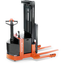 Electric stacker truck / walk-behind / straddle / counterbalanced