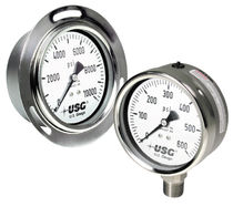 Pressure gauge / Bourdon tube / dial / process / corrosion-resistant