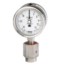 Pressure gauge / liquid-filled Bourdon tube / analog / chemical-resistant / process