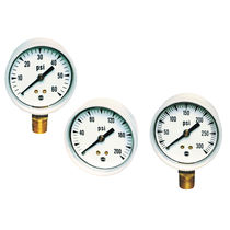 Pressure gauge / Bourdon tube / analog / process / brass