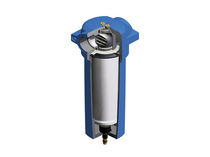Compressed air filter / micro-flow