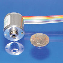Incremental rotary encoder / optical / hollow-shaft / miniature