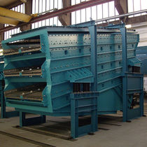 Linear vibrating screener / for bulk materials