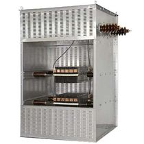 Wire-wound resistor / stainless steel-housed / floor-standing / high-voltage