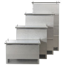 Stainless steel-housed resistor / floor-standing / power / starter