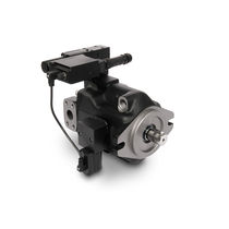 Hydraulic axial piston pump / fixed-displacement / bent-axis / low-noise