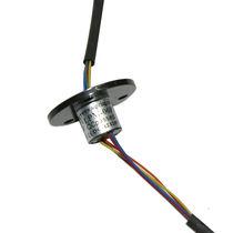 Electric slip ring / capsule / miniature / analog
