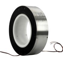 Electric slip ring / for cranes / for wrapping machines / large-diameter