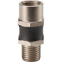 Round tube connector / aluminum / screw-in