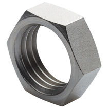 Hexagonal locknut / steel / stainless steel