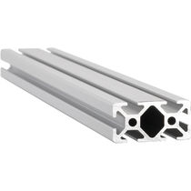 Aluminum profile / grooved / construction