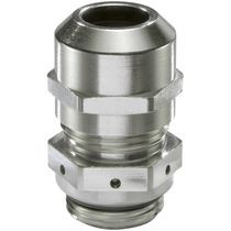 Nickel-plated brass cable gland / IP68 / IP69 / hexagonal