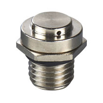 Plug with hexagonal head / cylindrical / threaded / nickel-plated brass