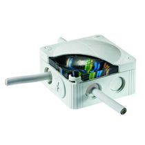Wall-mounted junction box / waterproof / polypropylene / with knockouts