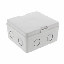 Wall-mounted junction box / IP20 / polystyrene / with knockouts