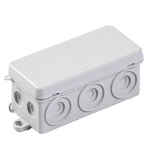 Wall-mounted junction box / halogen-free / IP54 / polypropylene