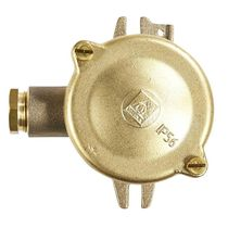 Surface mounted junction box / IP56 / brass / with cable gland