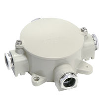 Wall-mounted junction box / IP67 / cast aluminum / with cable gland