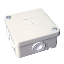 Wall-mounted junction box / aluminum / with elastic membranes
