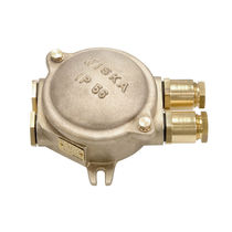 Surface mounted junction box / explosion-proof / ATEX / brass