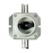 Rotary switch / 2-pole / on/off / aluminum