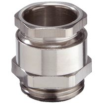 Nickel-plated brass cable gland / IP54 / hexagonal / threaded