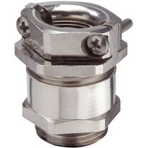 Nickel-plated brass cable gland / IP54 / strain relief / hexagonal