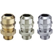 Nickel-plated brass cable gland / IP68 / IP69 / halogen-free
