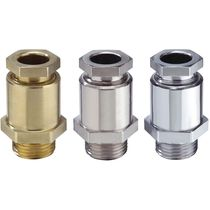 Nickel-plated brass cable gland / IP54 / straight / threaded