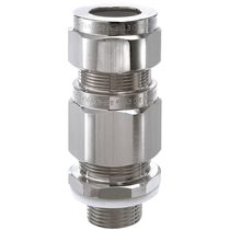 Armored cable cable gland / nickel-plated brass / IP66 / IP67