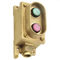 Illuminated push-button switch / with indicator light / momentary / waterproof