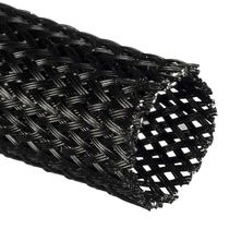 Braided sleeve / for electrical cables / protection / insulating
