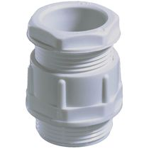Polyamide cable gland / straight / threaded / halogen-free