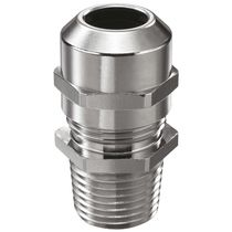 Nickel-plated brass cable gland / IP68 / straight / threaded