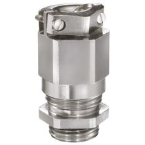 Nickel-plated brass cable gland / IP68 / IP69 / straight
