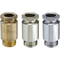 Brass cable gland / IP54 / straight / threaded