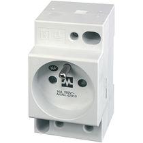 DIN rail electrical socket