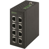 Unmanaged network switch / 8 ports / DIN rail mounted