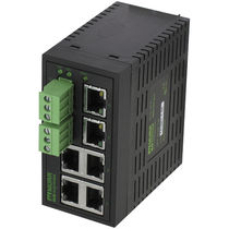 Unmanaged network switch / 6 ports / DIN rail mounted