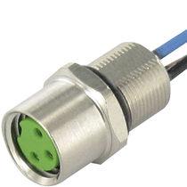 RF connector / DIN / circular / female
