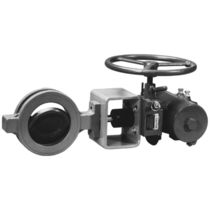 Manual valve actuator / rotary / worm gear / double-acting