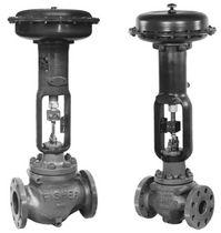 Pneumatic valve actuator / linear / membrane / spring-return