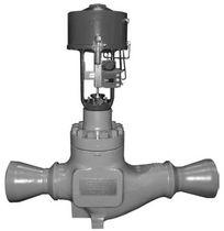 Globe valve / control / for steam / corner